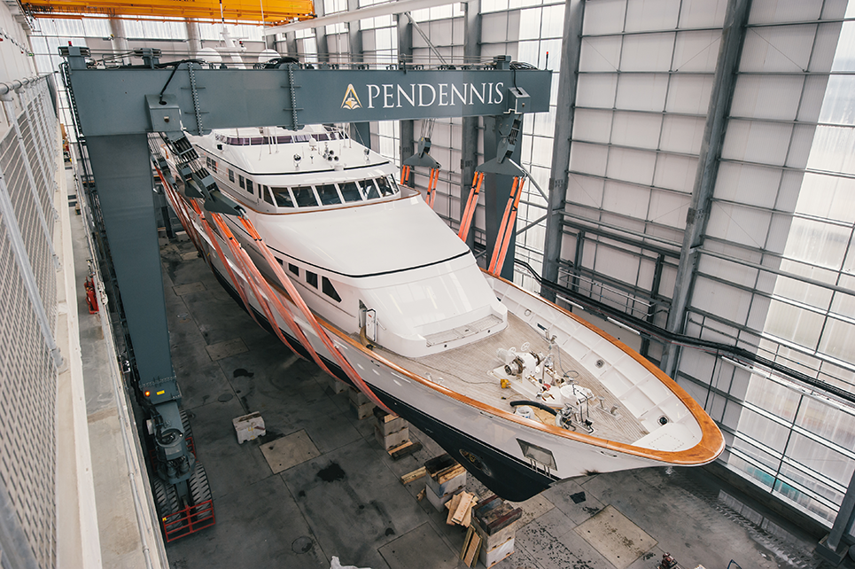 Refit begins on superyacht Constance